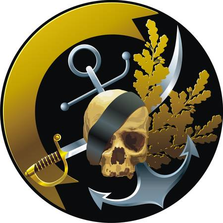 Piratical style badge
