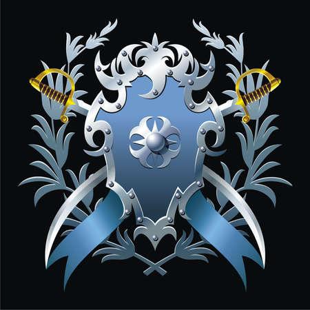 Blue blazon Vector