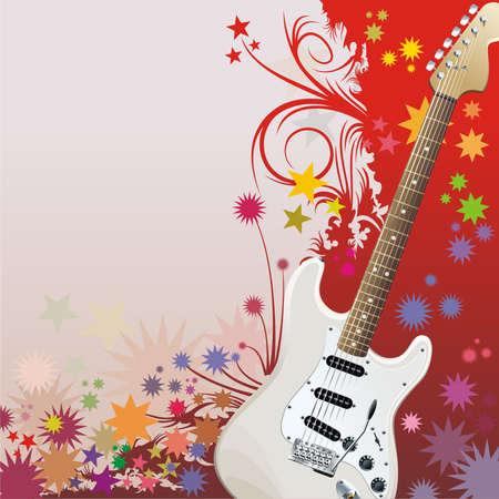fingerboard: Hippie style background Illustration