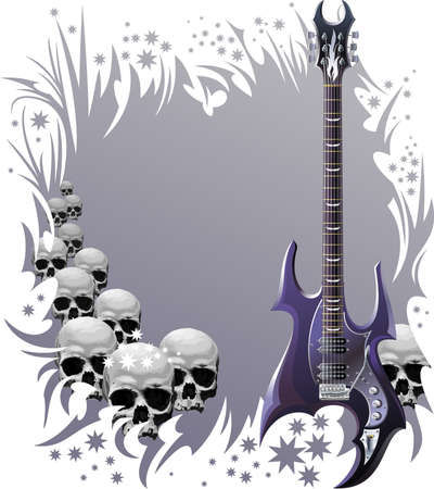 Heavy rock style background  Vector