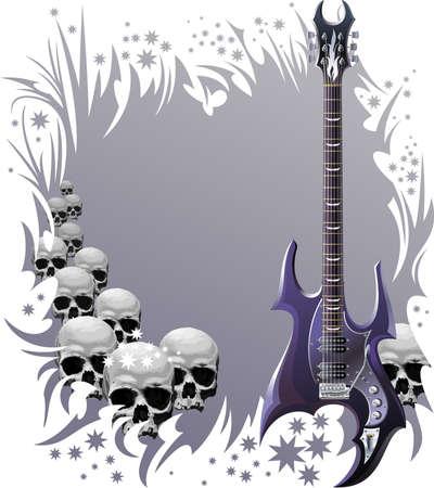 fingerboard: Heavy rock style background