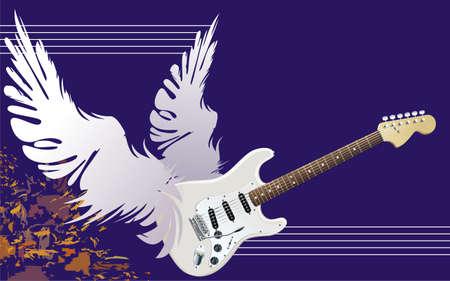 fret: Winged guitar