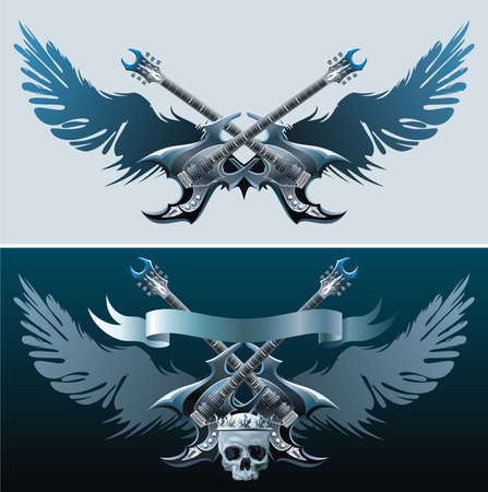 Symboles Rock Heavy. Vecteurs