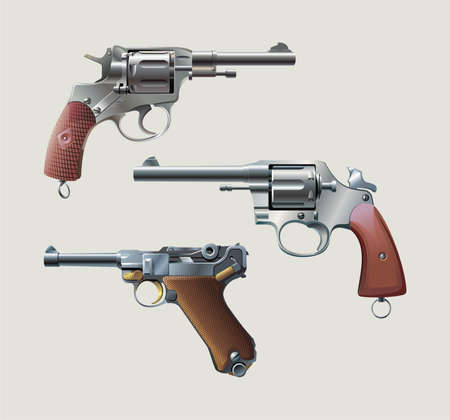 automatic: Revolvers and automatic pistol
