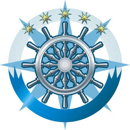 Marine emblem Stock Vector - 7877497