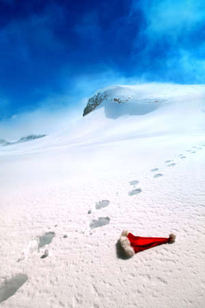 snow man party: where Santa lives Stock Photo