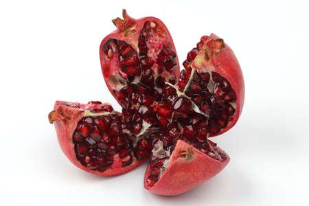 Pomegranate isolated on white photo