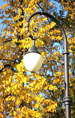 Lantern in the autumn park Stock Photo - 14978824