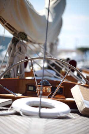 rigging: boat steering wheel