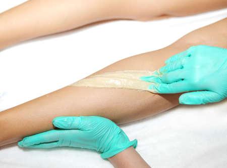 sugaring: Wax epilation