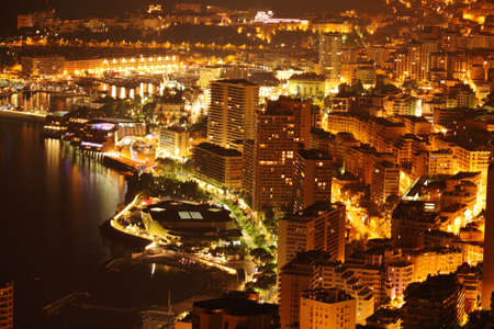 Night view on Monte Carlo  photo