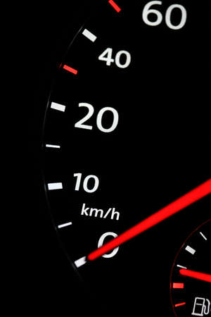 automobile speedometer on black background Stock Photo - 23283562