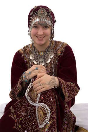 arab girl: Ethnic girl wearing traditional clothing