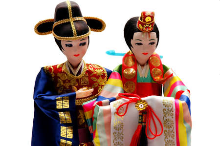 Asian bride and groom dolls