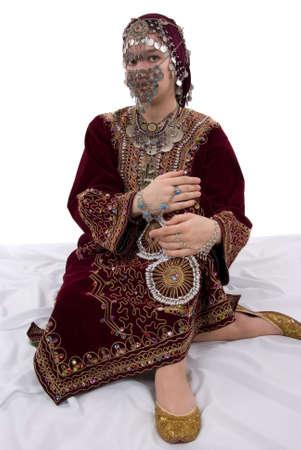 Ethnic girl wearing traditional clothing photo