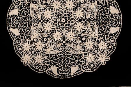 Handmade antique lace Фото со стока