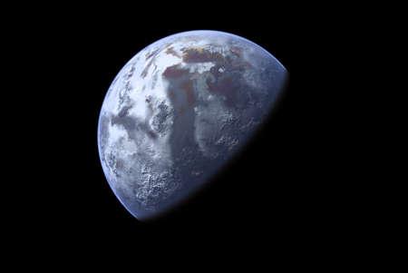Een onbekende planeet Stockfoto