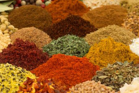 Gezonde organische specerijen en kruiden