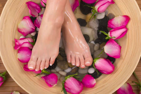 Being pampered by beautiful aromatic pink roses and therapeutic herbal water bath(Valentine Spa)