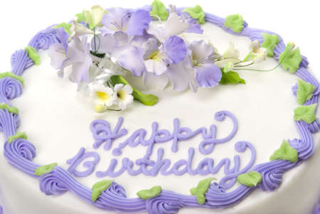 Delicious beautifully decorated bithday cake