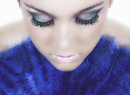 Girl with beautiful make up Banque d'images