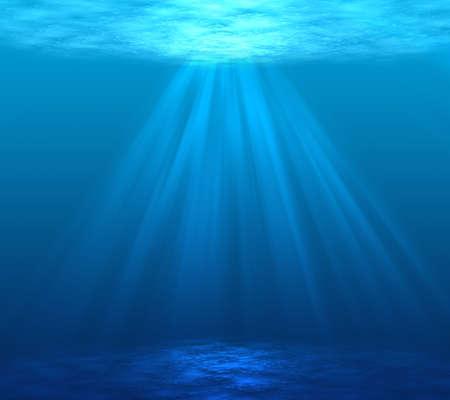 Digitally made underwater scene Stock fotó