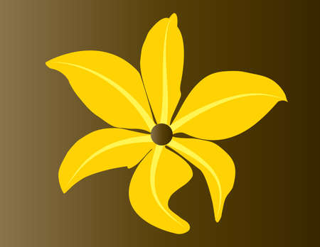 Beautiful tropical flower (vector)