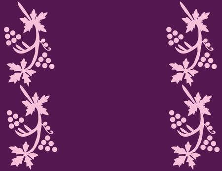 Druiven en bladeren als achtergrond (vector) Stock Illustratie