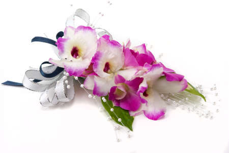 Orchid corsage Stock Photo
