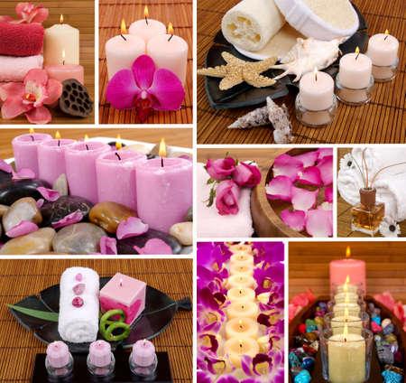 Aromatherapy collage Foto de archivo