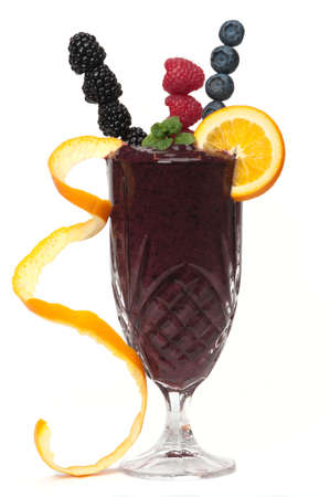 Healthy fruit drink made with raspberry, blackberry, blueberry