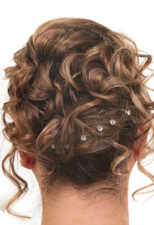 プロム、結婚式やパーティーのヘアスタイル 写真素材