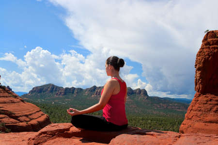 Yoga in beautiful Sedona Arizona photo