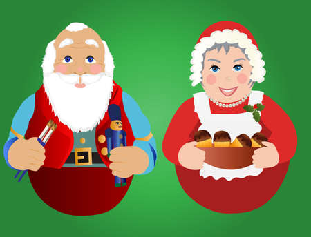 mrs claus: Santa and Mrs.Claus ornaments or Icons