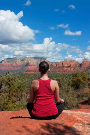 Meditation in Sedona Arizona Stock Photo