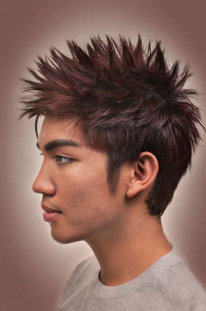 Asian man with a nice haircut and hairstyle Banque d'images