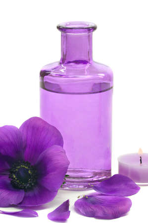 Aromatherapy and massage oil in a spa