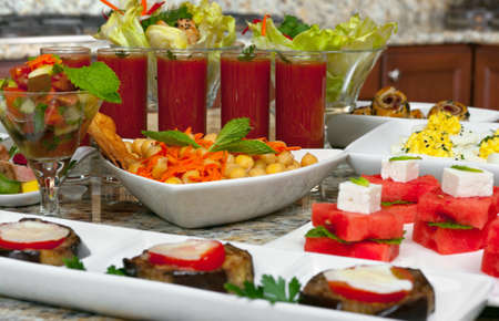 Mediterranean food, different appetizers Banque d'images