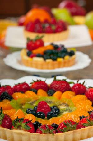 Delicious fruit tarts Banque d'images