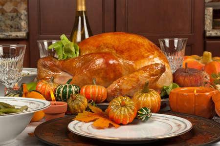 感謝祭の七面鳥 写真素材