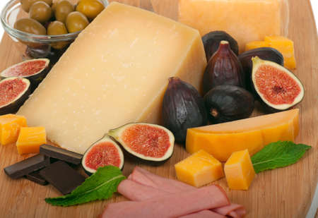 figs, cheese Banque d'images
