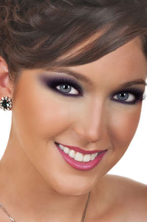 Young woman with beautiful make up Banco de Imagens