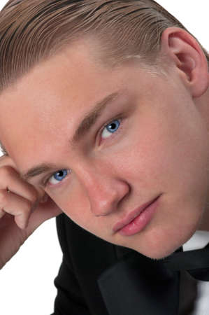 Handsome young man in tuxedo Banque d'images