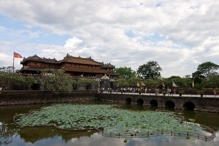middle east fighting: Beautiful architecture at the Hue Citadel in Vietnam