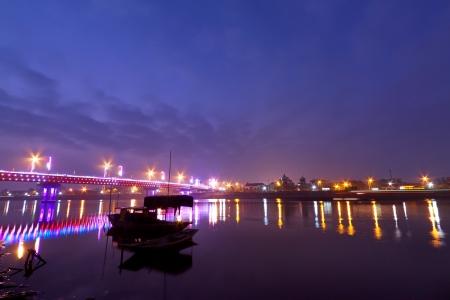 The landscape of Saigon: Làm cầu Quán đêm ở Nam Định, Việt Nam Kho ảnh