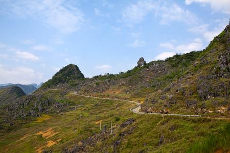 ha giang:  Dong Van karst plateau global geo park in Ha Giang, Vietnam  Stock Photo