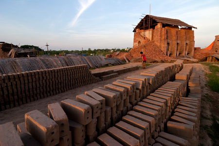 brick kiln factory in Nam Dinh, Vietnam