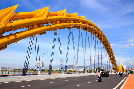 DANANG CITY, VIETNAM - April, 30, 2014 - The Dragon Bridge that recently wins Engineering Exellence Award  EEA  in the USA