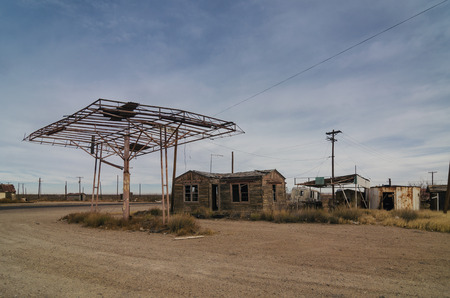 abandoned gas station: abandoned gas station in new mexico Stock Photo