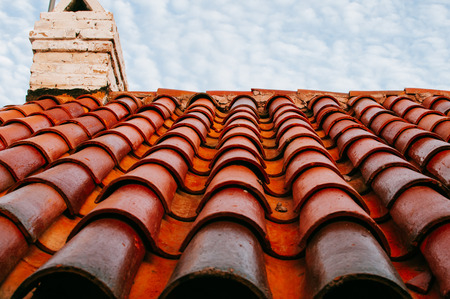 ceiling: tiled ceiling Stock Photo